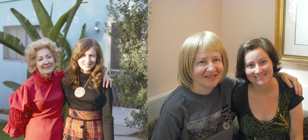 On the left, my grandmother, Ruth Goldstein, and my mom, Rosalie Stillman. On the right, my mom and me in 2011.