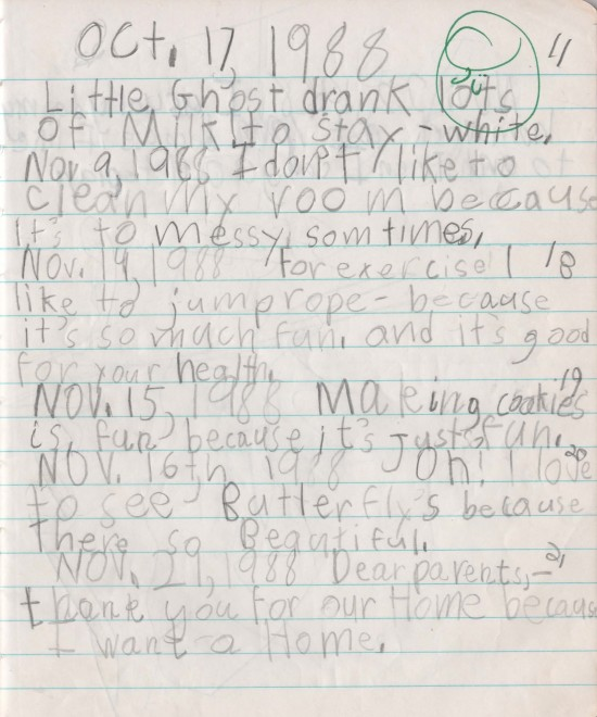 I was in 2nd grade when I made these astute observations in my school journal.