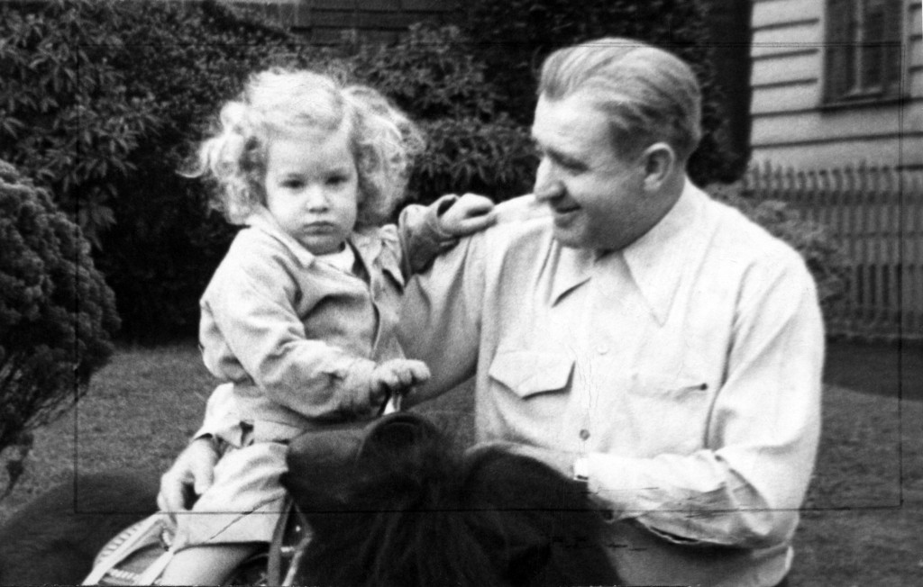 A young Libby with her dad, Harry